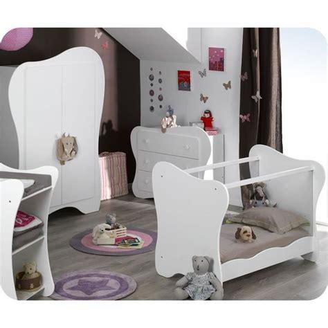 chambre bebe complete cdiscount eb chambre b 233 b 233 compl 232 te iris blanche avec ta achat