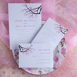 simple pink plum blossom wedding invitations uki130 With minimalist wedding invitations uk
