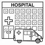Hospital Hospitales Colorear Dibujos Ninos Febrero Manualidades sketch template