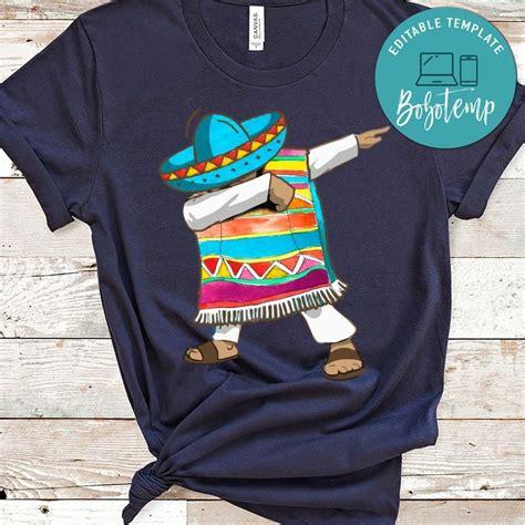 Mexican Poncho Dabbing T-Shirt Cinco de Mayo | Bobotemp