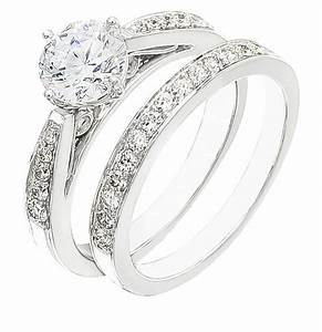 ladies engagement ring set on sale set on white gold with With wedding rings sets on sale