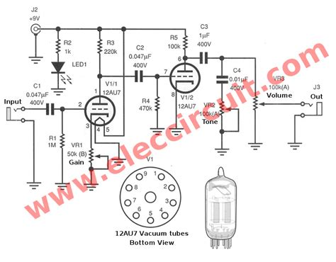 Guitar Preamp Circuit Over Drive Using