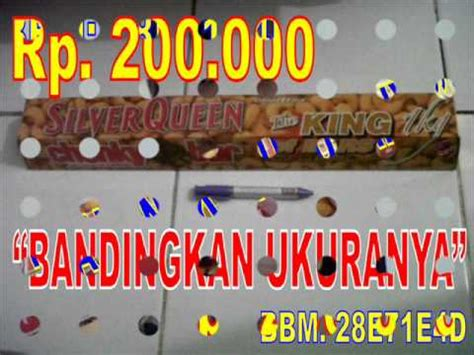 jual silverqueen chunky king rb pcs  gg youtube