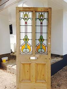 large victorian stained glass front door big old wood With barn door with stained glass