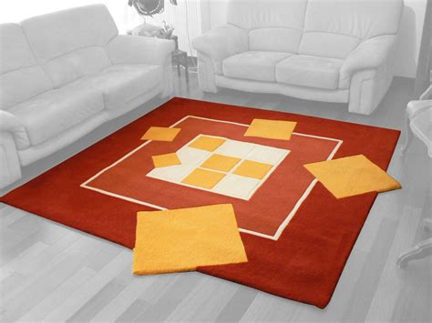 tapis salon orange awesome tapis salon orange et marron