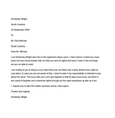 Customer Complaint Book Template Uk by 11 Noise Complaint Letter Templates Pdf Doc Free