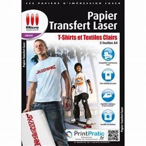 Papier Transfert Tee Shirt : micro application papier transfert laser textiles clairs ~ Melissatoandfro.com Idées de Décoration
