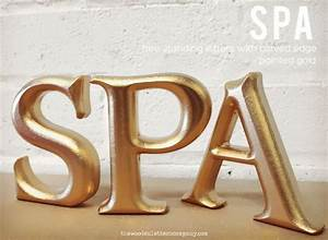 Large painted freestanding wooden letters with a rounded for Large freestanding wooden letters