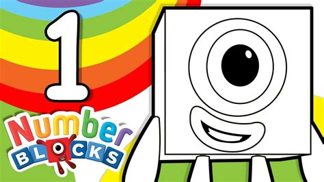 Coloring Numberblocks by Numbers Learn Colors For Coloring Number One