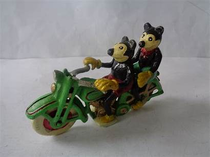 Mouse Mickey Iron Minnie Cast Motorbike Motorcycle