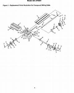 Craftsman 351275931 User Manual Compound Milling Table