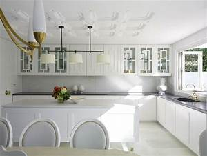 art deco kitchen contemporary kitchen greg natale With kitchen colors with white cabinets with art nouveau wall panels