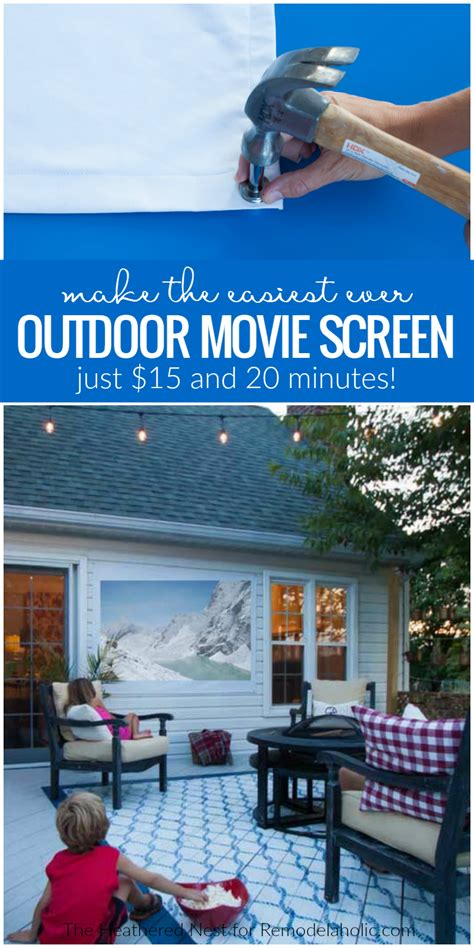 remodelaholic easy diy outdoor  screen