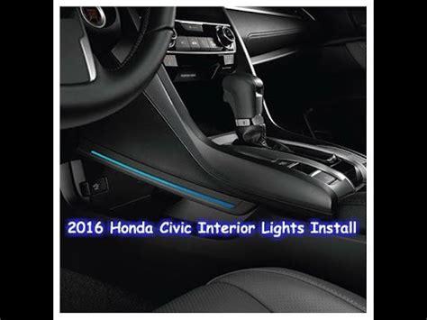 honda civic interior lights install youtube