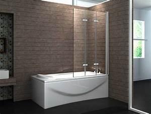 Duschwand Für Badewanne : duschwand badewanne glas 3 tlg faltwand mit verchromt ~ Michelbontemps.com Haus und Dekorationen