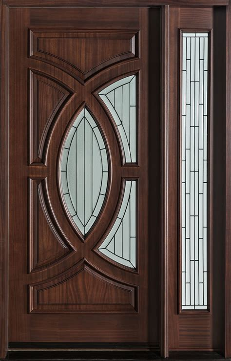 modern front door custom single   sidelite solid