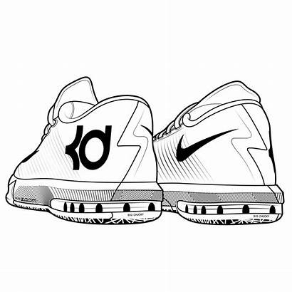 Sneakers Drawing Kd Drawn Clipartmag