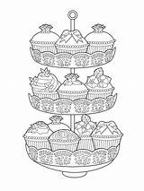 Tea Coloring Party Elegant Pages Food Issuu Adult Books Ausdrucken Grown Print Printable Zum Colouring Mandalas Cake Ups Cakes Ausmalen sketch template