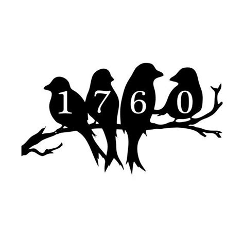 birds   limb address plaque house number address