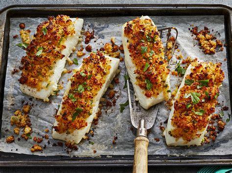 baked fish parmesan crusted recipe myrecipes