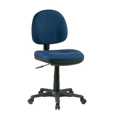 sculptured task chair without arms