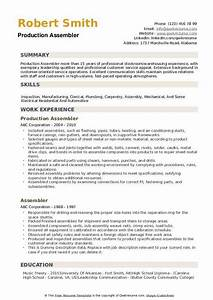 Computer Skills Resume Example Assembler Resume Samples Qwikresume