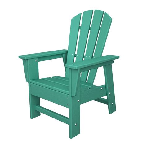 shop polywood aruba plastic adirondack chair at lowes