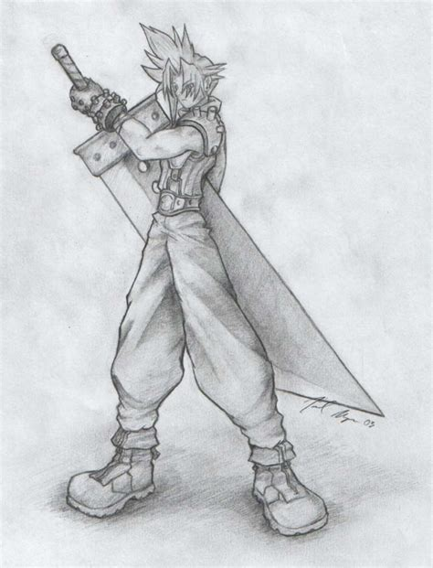 Тихиро и хаку speed drawing. Cloud Final Fantasy 7 Fan Art by JoelAndrewMorgan on ...