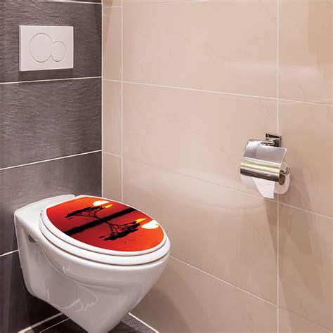 sticker abattant toilette coucher du soleil africain stickers toilettes abattants wc