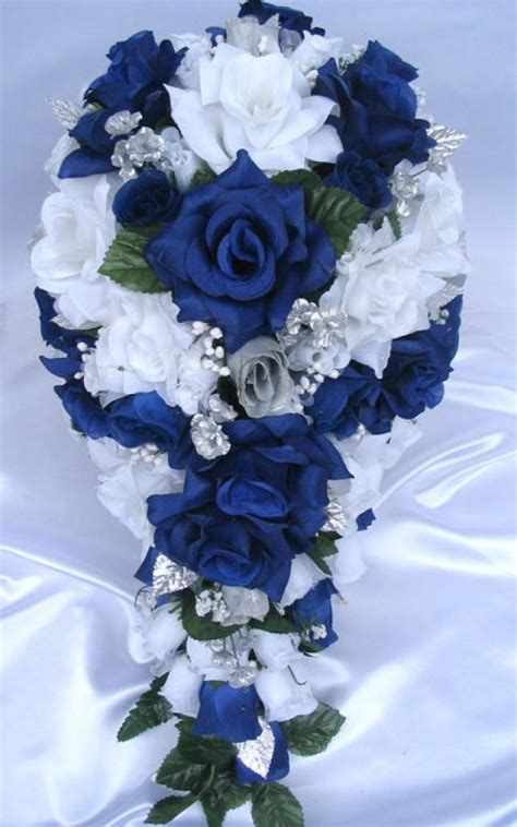 shipping wedding bouquet bridal silk flower  pieces