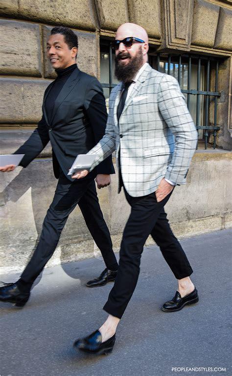 Men Street Style Slim Blazers Cropped Pants