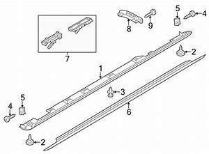 4h4898855b - Rocker Panel Molding Hardware Kit  Mount