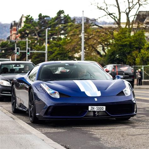 The 458 replaced the f430. Ferrari 458 Speciale painted in Tour De France Blue w ...
