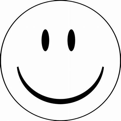 Face Coloring Happy Smiley Pages Clipart