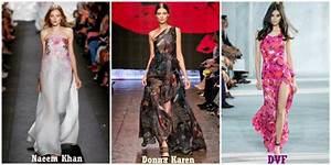 robe longue avec limprimee de fleur fashion week de new With affiche chambre bébé avec robe fleurie soiree