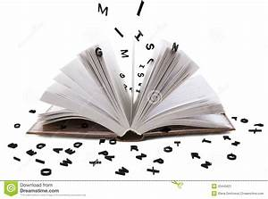 open book whith black letters stock image image of With letters to open when book