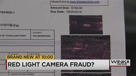 can you contest a red light camera ticket red light ticket fraud or a mistake naples couple wants