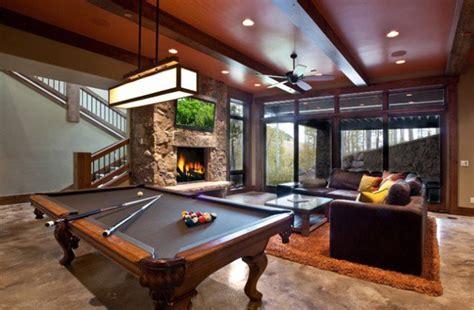 billiard table in living room decor