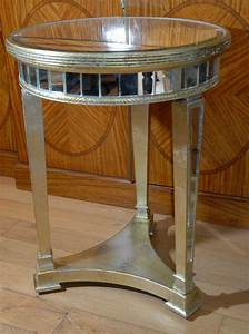 Art, Deco, Mirrored, Side, Table, Tables, Mirror, Furniture