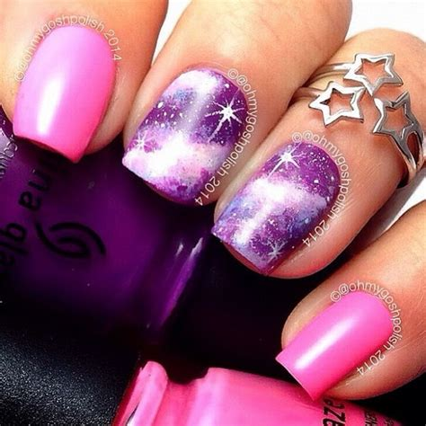 Gorgeous Galaxy Nail Art Designs And Tutorials Noted List