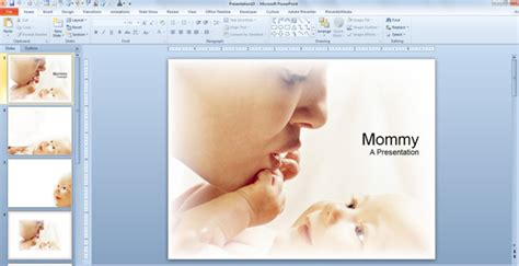 Powerpoint templates baby costumepartyrun baby mommy powerpoint templates toneelgroepblik Choice Image