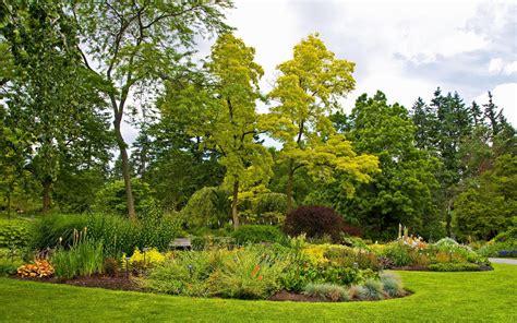 Nature Grass Park Green Garden Trees Flowers Hd 1080p