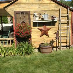 garden shed country primitive outdoor ideas pinterest