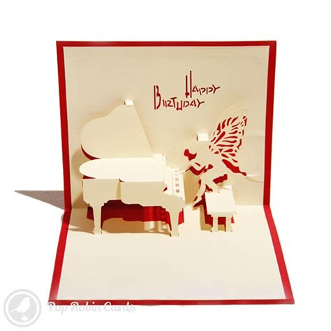 Birthday Pop Up Greeting Card piano 3d pop up birthday card 163 4 50 3d pop up