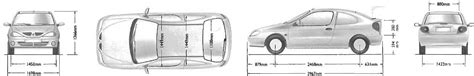 2001 renault megane coupe blueprints free outlines