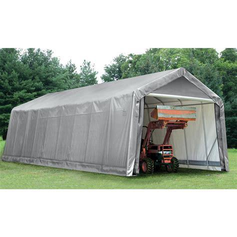 shelter garage shelterlogic peak style garage shelter 14x36x16 h
