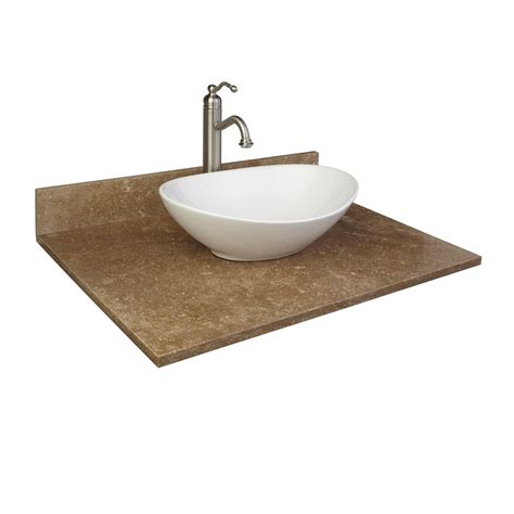 travertine vessel sink vanity top bathroom