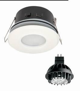 Ampoule Salle De Bain : spot encastrable salle de bain blanc rond gu5 3 mr16 ip67 ~ Melissatoandfro.com Idées de Décoration