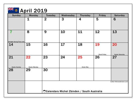 april calendar south australia australia michel zbinden en