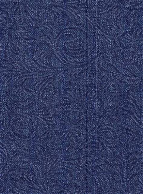 embossed paisley denim indigo fabric  style fabric